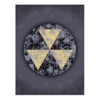 Carte Postale Abri-Cl-dist de retombées radioactives