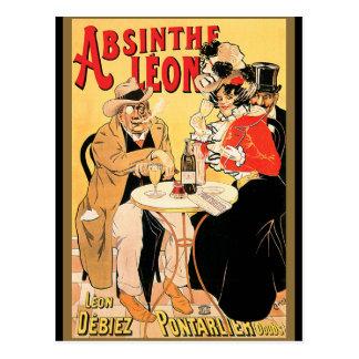 Carte Postale Absinthe Léon