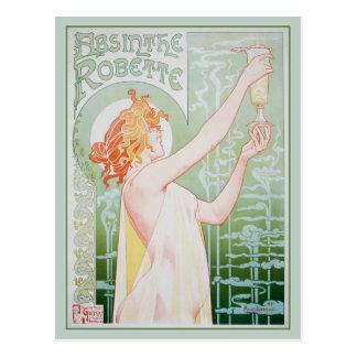 Carte Postale Absinthe Robette (menthe)