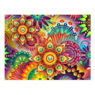 Carte Postale Abstraction de fleur