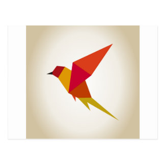 Carte Postale Abstraction d'oiseau