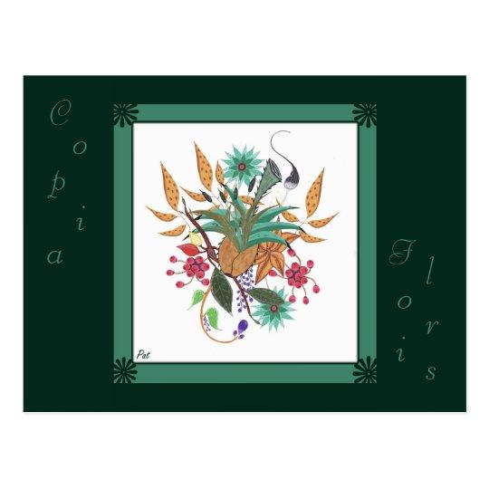carte postale abstrait fleur Copia Floris