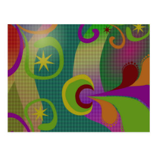 Carte postale abstraite colorée de conception