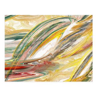 Carte postale abstraite de calomnie de peinture