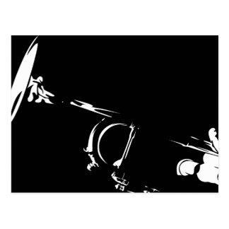 Carte postale abstraite de trompette
