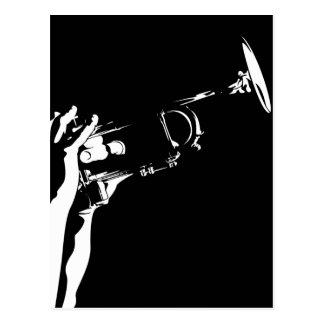 Carte postale abstraite de trompette de jazz