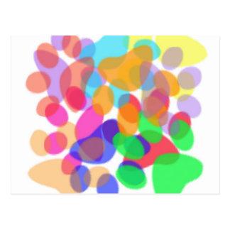 Carte postale abstraite d'empreintes de pattes