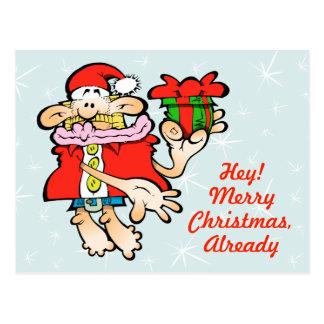 Carte postale absurde de Noël de Père Noël
