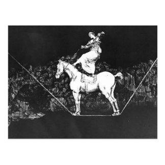 Carte Postale Absurdité opportune de reine de cirque de