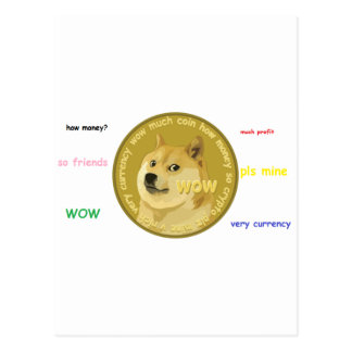 Carte Postale Accessoires de Dogecoin le Shiba bavard Inu