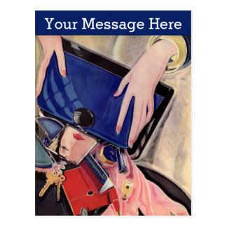 Carte Postale Accessoires vintages de beauté et de mode