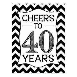 Carte Postale Acclamations à 40 ans