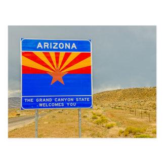 Carte Postale Accueil à l'état de canyon grand de l'Arizona