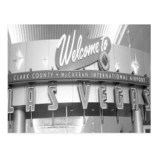 Carte Postale Accueil au cru de Las Vegas