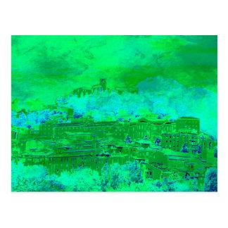 Carte postale - accueil dans la ville médiévale de