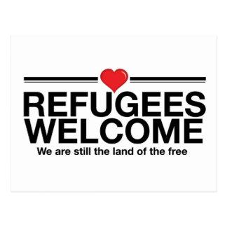 Carte Postale Accueil de réfugiés