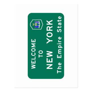 Carte Postale Accueil panneau routier vers New York - Etats-Unis