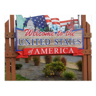 Carte Postale Accueil vers les Etats-Unis