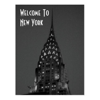 Carte Postale Accueil vers New York