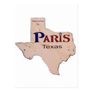 Carte Postale Accueil vers Paris, le Texas