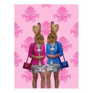 Carte Postale Achat allant de filles drôles de lapin