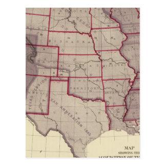 Carte Postale Acquisition des territoires des USA