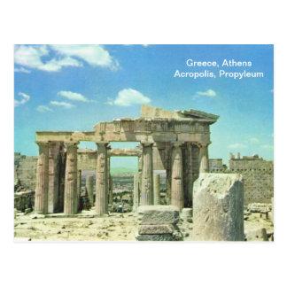 Carte Postale Acropole de la Grèce, Athènes, Propyleum
