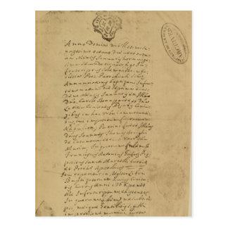 Carte Postale Acte de la naissance du napoléon, 1769