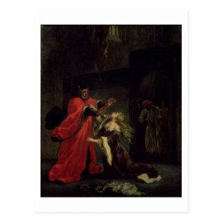 Carte Postale Acte I, scène 3 : Desdemona se mettant à genoux à