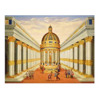 Carte Postale Acte I, scènes VII et VIII : Le temple de Baccus