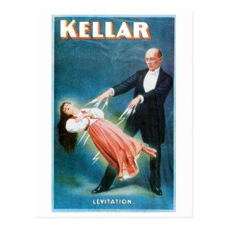 Carte Postale Acte magique vintage de magicien de lévitation de