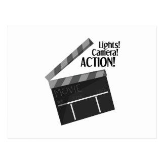 Carte Postale Action d'appareil-photo de lumières