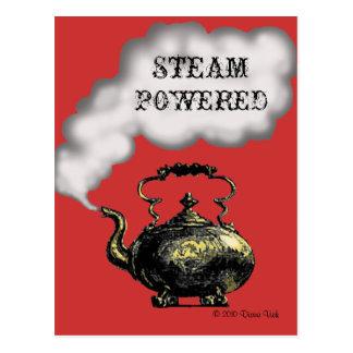 Carte postale actionnée par vapeur