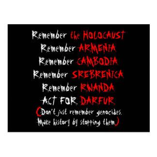 Carte Postale Activisme : Ne vous rappelez pas simplement les