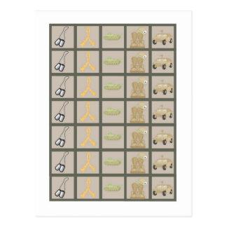 Carte Postale ACU Camoflauge Digital d'ARMÉE de marqueurs de