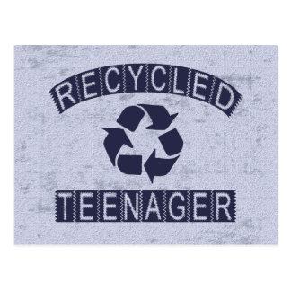 Carte Postale Adolescent réutilisé