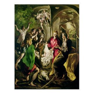Carte Postale Adoration des bergers, 1603-05