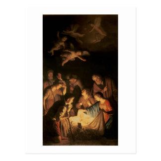 Carte Postale Adoration des bergers, 1617 (huile sur la toile)