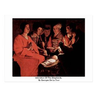 Carte Postale Adoration des bergers, par Georges de La Tour