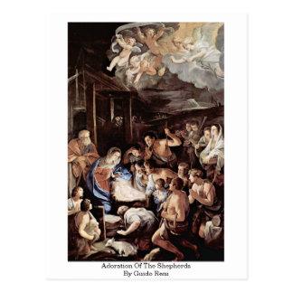 Carte Postale Adoration des bergers par Guido Reni