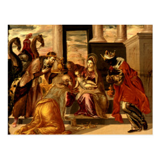Carte Postale Adoration des Magi - Greco