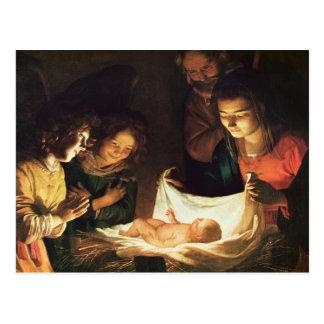 Carte Postale Adoration du bébé, c.1620