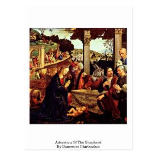 Carte Postale Adoration du berger par Domenico Ghirlandaio