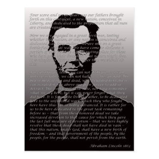 Carte Postale Adresse d'Abraham Lincoln Gettysburg