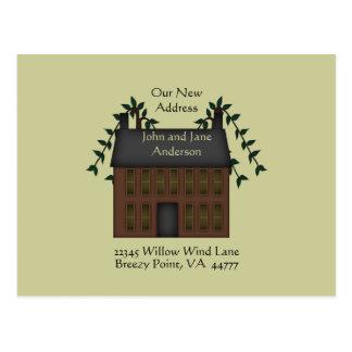 Carte Postale Adresse de Chambre de Brown Saltbox nouvelle