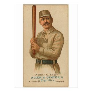 Carte Postale Adrian 1887 C. Anson