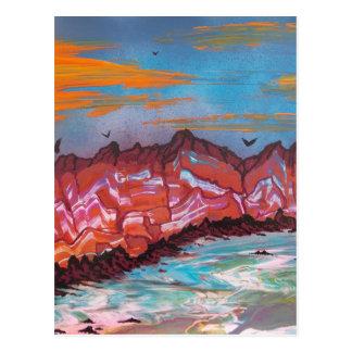 Carte Postale Aérolithes au-dessus de paysage