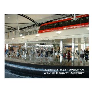 Carte Postale Aéroport métropolitain de pays de Detroit Wayne