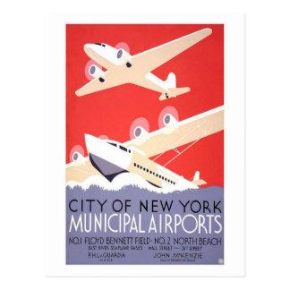 Carte Postale Aéroports de ville de New-York