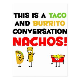 Carte Postale Affaires de taco et de burrito